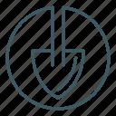 dig, gardening, shovel, tool icon