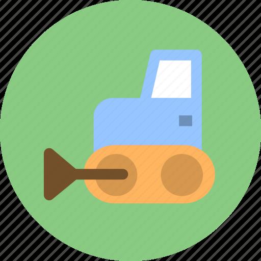 bulldozer, construction, construction vehicles icon