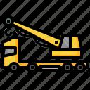 hydraulic, truck, crane, constructioncar, transportation, bulldozer