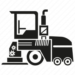 bulldozer, construction equipment, heavy equipment, loading, machinery, vehicle icon