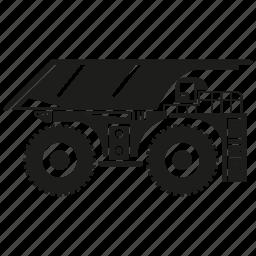 bulldozer, car, heavy equipment, machinery, truck, vehicle icon