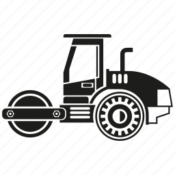 bulldozer, construction equipment, heavy equipment, loading, machinery, vehicle icon