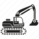 car, construction equipment, digger, heavy equipment, loading, machinery, vehicle icon