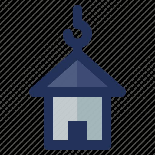 building, construction, crenelation, house, labor icon