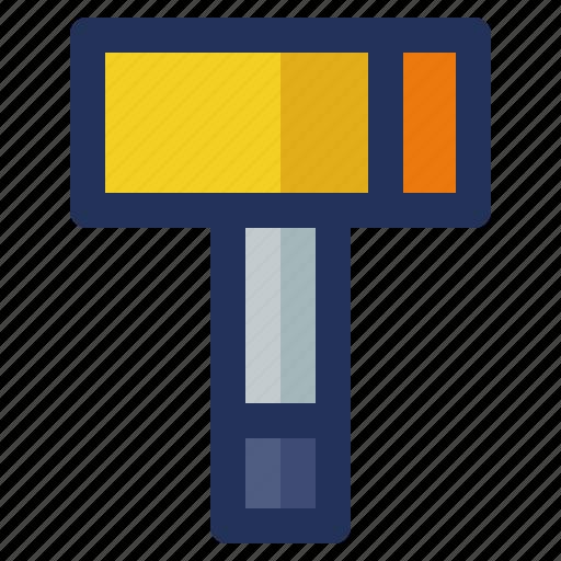 building, construction, crenelation, hammer, labor icon