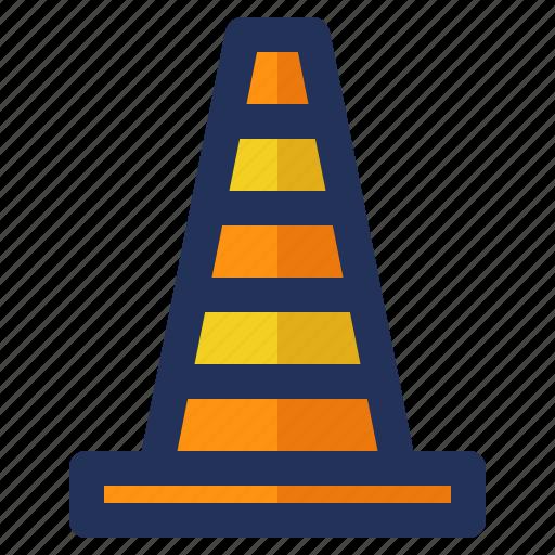 building, cone, construction, crenelation, labor, safety icon