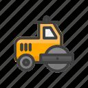 asphalt grinding, build, construction, tool, work icon