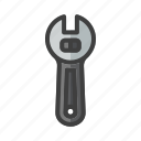 build, construction, tool, work, wrench icon