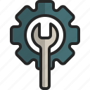 maintenance, setting, technical, support, wrench, gear
