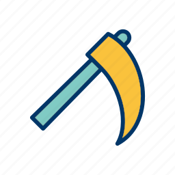 construction, farming, scythe, tool icon