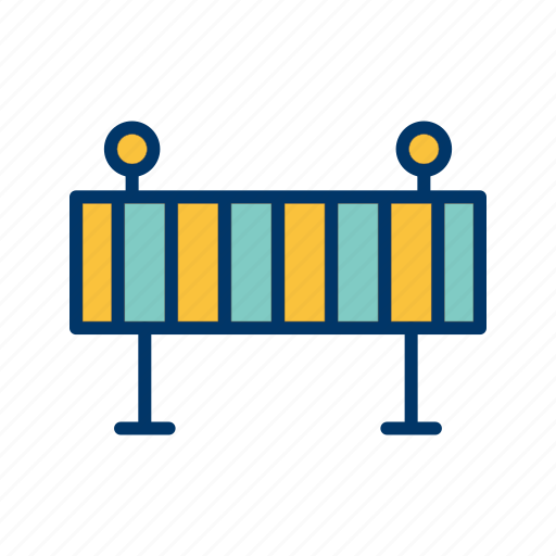 barrier, road, traffic icon