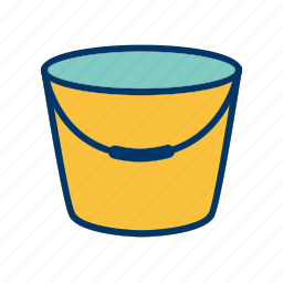 bucket, pail, pot, water icon