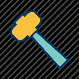 construction, hammer, mallet, work icon