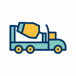 concrete, construction, mixer, vehicle icon