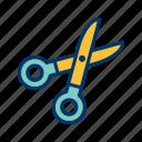 scissor, cutting, edit icon