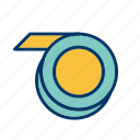 cassette, measure, repair, tape, tool icon