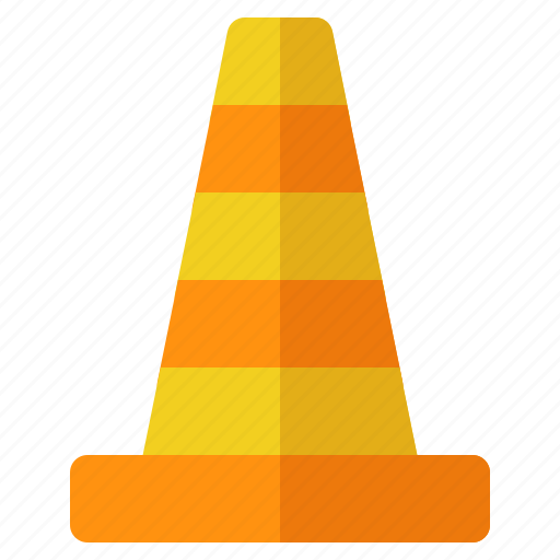 building, cone, construction, crenelation, labor, safety icon