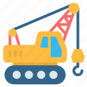 construction, crane, hook, lift, transportation, truck, vehicle