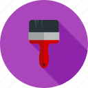 brush, decoration, interior, paint, painting, roller, wall icon