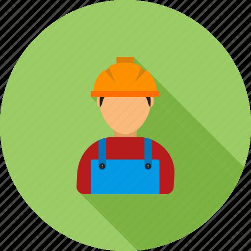 builder, construction, engineer, helmet, labor, man, worker icon