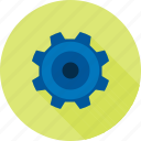 cogs, gear, mechanical, progeress, technical, wheel, work icon