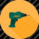 drill, drill machine, drilling, jackhammer, renovation, tinkering icon