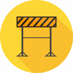 barrier, hurdle, precaution, road barrier, safety icon