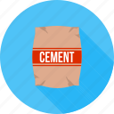 bag, cement, concrete, construction, container, plaster, raw material