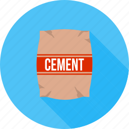 bag, cement, concrete, construction, container, plaster, raw material icon