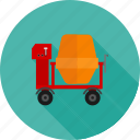 cement mixing, concrete, construction, equipment, machinery, site, working