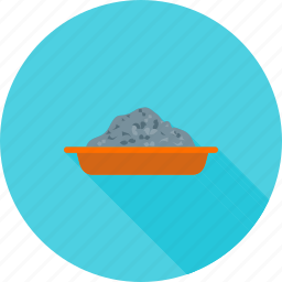 cement, concrete, construction, container, holder, mixing, tray icon