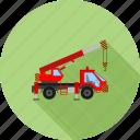 construction, crane, equipment, heavy machine, hook, lifter, truck