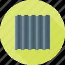 aluminium, construction, equipment, metal, roof, sheet, steel icon