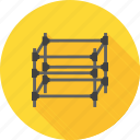 architecture, building, construction, design, exterior, scaffolding, steel icon