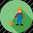 builder, construction, engineer, labor, man, shovel, worker icon