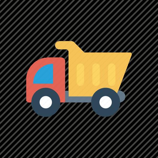 cargo, construction, truck, vehicle icon