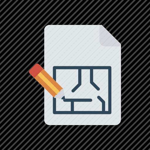architect, blueprint, document, flyer icon