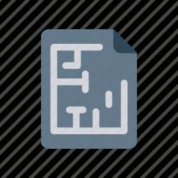 architect, blueprint, construction, tools icon