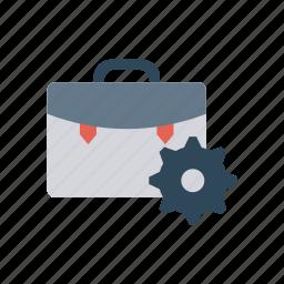 bag, gear, kit, setting icon