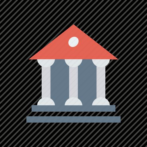 bank, building, estate, saving icon