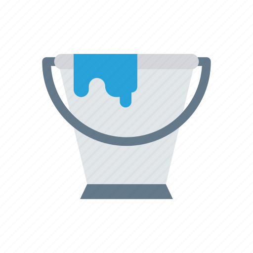 bucket, cart, color, paint icon