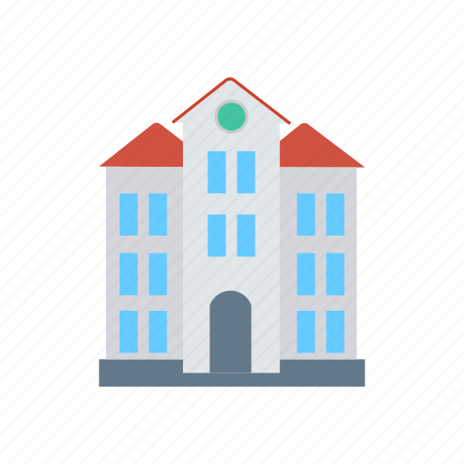 building, estate, house, real icon
