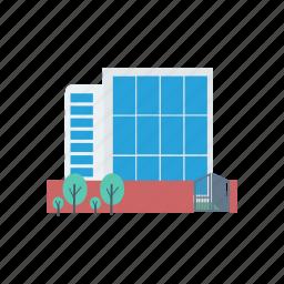 building, estate, plaza, real icon
