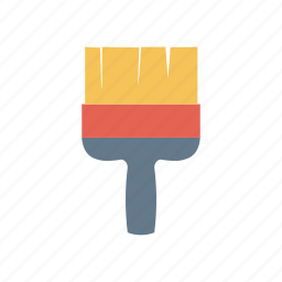 brush, color, decorate, paint icon