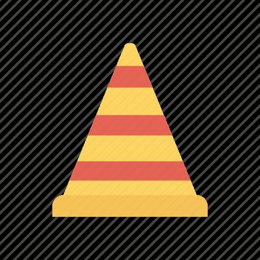 blocker, cone, construction, traffic icon