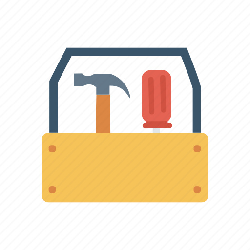 construction, kit, repair, toolbox icon