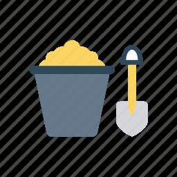 construction, mine, shovel, trovle icon