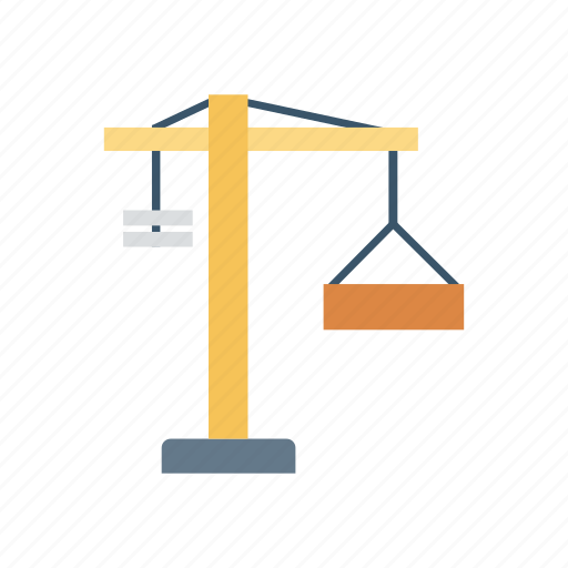 container, crane, hook, lifter icon