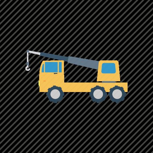 cargo, crane, lifter, vehicle icon
