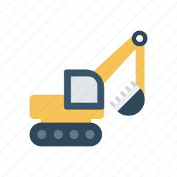 cargo, construction, crane, vehicle icon